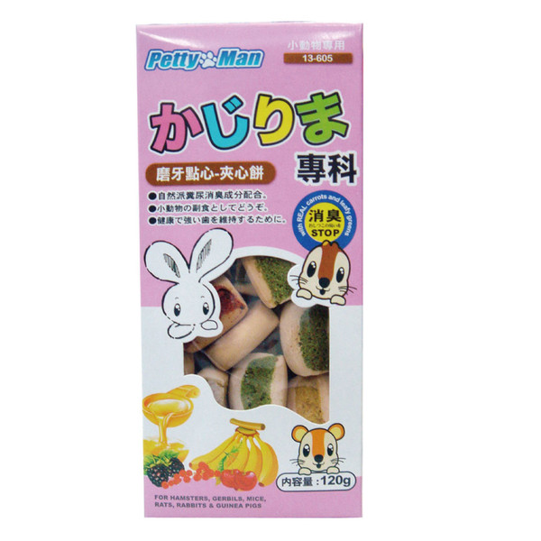 【PettyMan】小動物磨牙點心餅(120g)-共5種口味