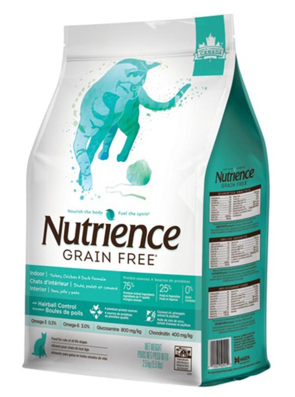 【Nutrience 紐崔斯】無穀養生-室內貓 雞肉+鴨肉+火雞1.13KG/2.5KG