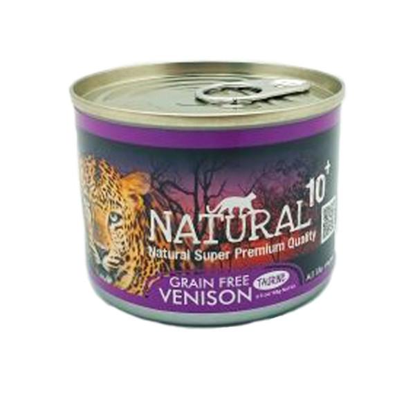 【NATURAL10+】原野主食罐牧野鮮鹿(90g/185g)-罐