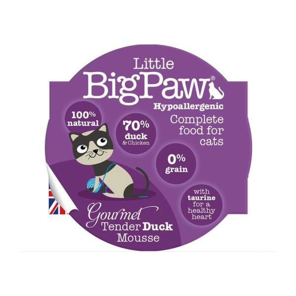 【Little Big Paw 英皇饗宴】無穀主食貓罐85g-櫻桃鴨/鮮嫩火雞/香雞