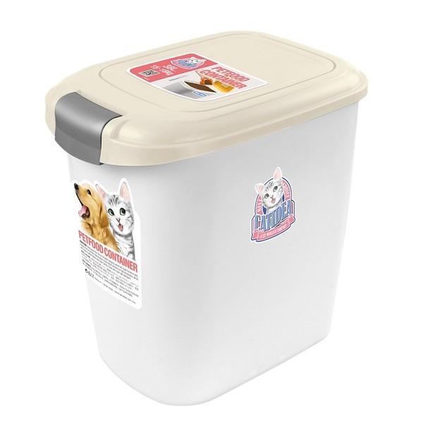 【CATIDEA 貓樂適】CF101-單開飼料桶(乳白)5公斤/15公斤