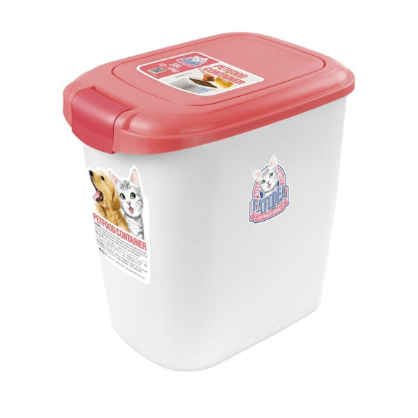 CATIDEA貓樂適CF101-15公斤單開飼料桶(粉) 6921103001456