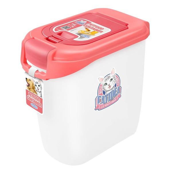 CATIDEA貓樂適CF102-5公斤雙開飼料桶(粉) 856211005910