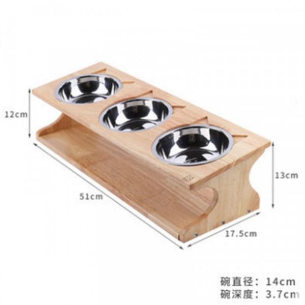 2302100306524橡木簡約餐桌造型不鏽鋼碗(三碗)17.5*51cm