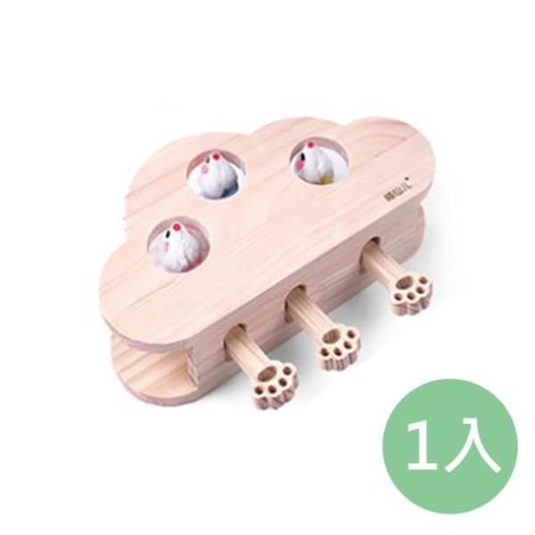 2302089006965雲朵3孔打地鼠貓玩具21*10*28cm