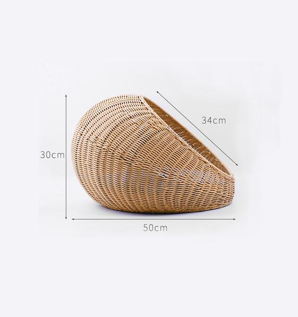 2302400316599圓形藤製涼窩(兩色) 50*30*34cm