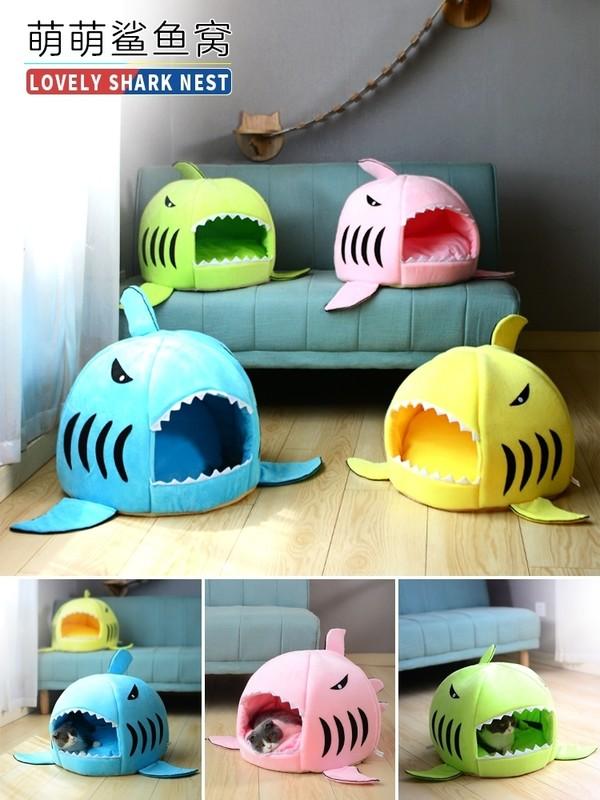 2302400316582鯊魚造型貓窩(M) 48*48cm