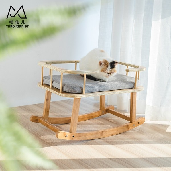 2302400223972木製寵物用搖床39*40*59*64cm
