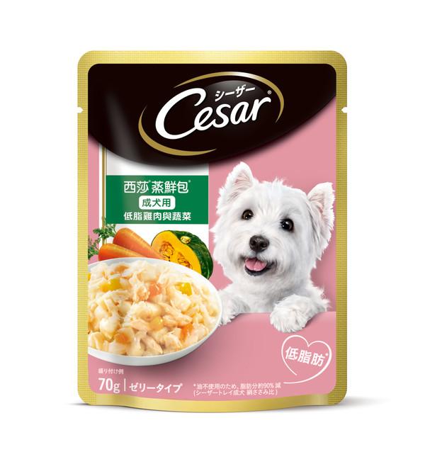 4902397812586西莎蒸鮮包成犬低脂雞+蔬70g(16/盒)