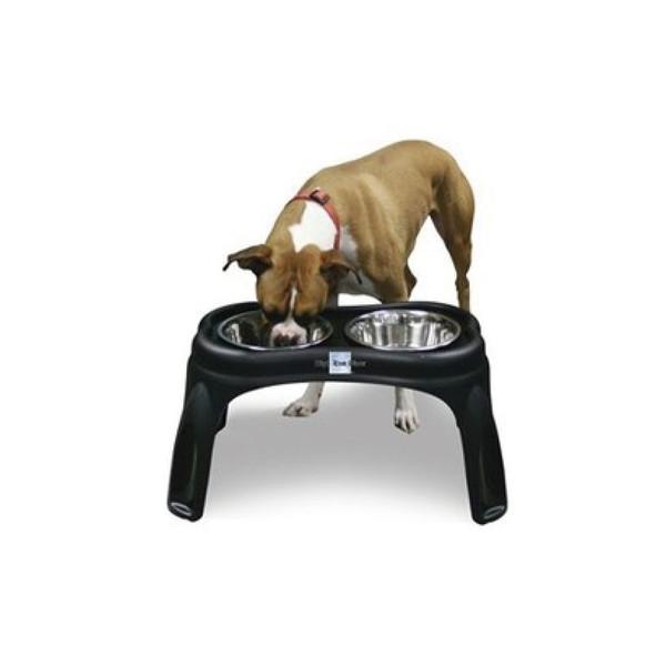 【Durapet 防滑不銹鋼寵物食器】豪華架高餐盤組 L(12吋高)