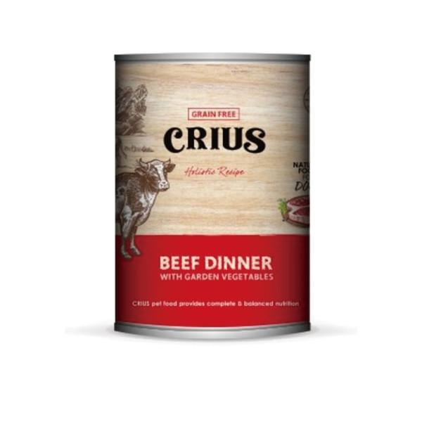 【CRIUS 克瑞斯】紐西蘭天然無穀犬用主食罐375G-共五種口味