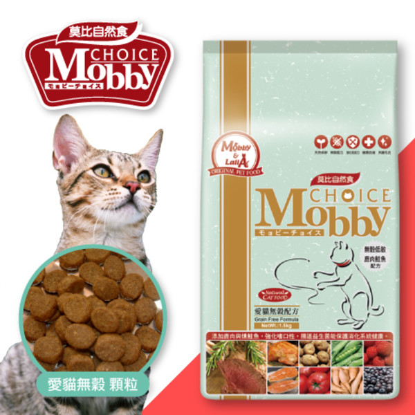 【MobbyChoice莫比自然食】愛貓無穀鹿肉鮭魚(1.5KG/3KG)
