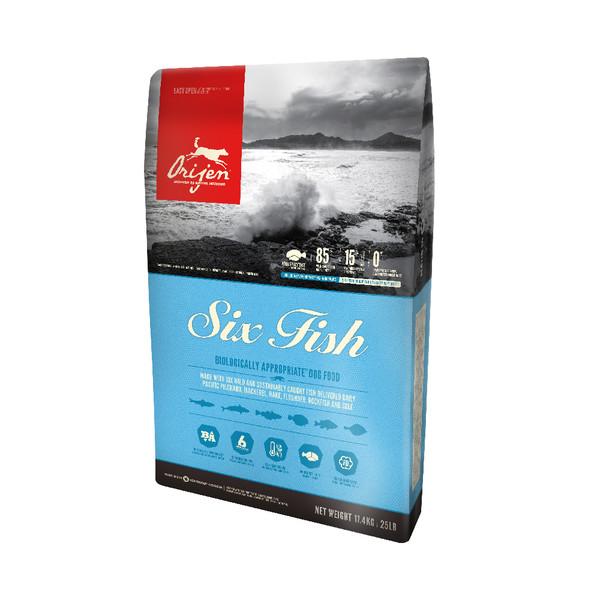 【Orijen 渴望】頂級成犬6種魚+海藻配方 (1kg/2kg/6kg/11.4kg)