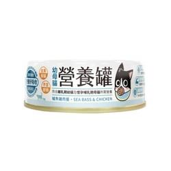 4710345541422 汪喵-幼母貓營養主食罐80g鱸魚雞(小罐)
