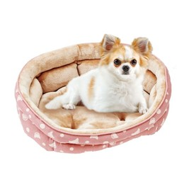 1129115300MK法蘭絨橢圓型睡床-粉567103