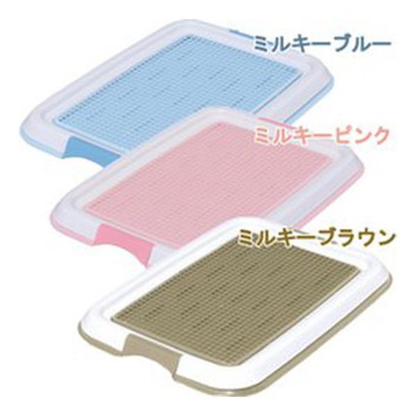 【日本IRIS】防抓式平面狗便盆-茶