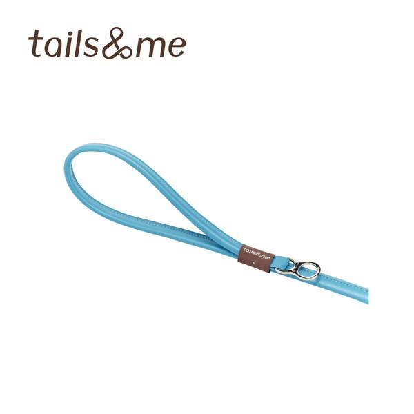 【tails & me 尾巴與我】自然概念革純粹款牽繩-青石藍 (S/M)