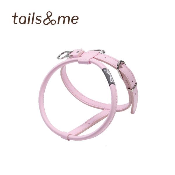 【tails & me 尾巴與我】自然概念革純粹款胸背帶-櫻花粉 (XS/S/M)