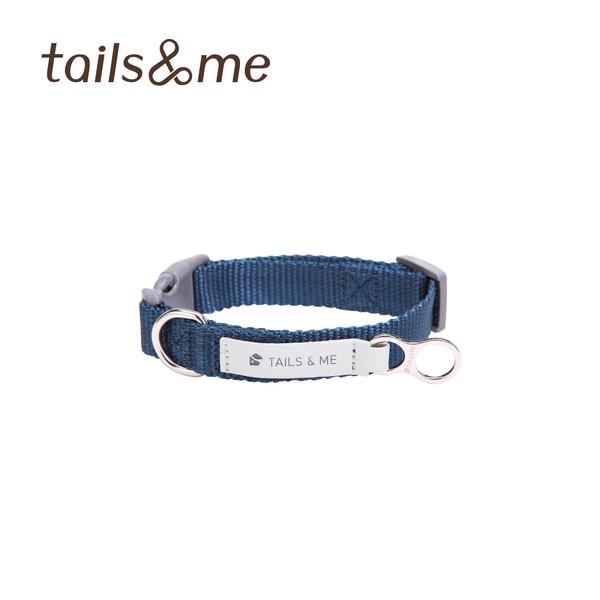 【tails & me 尾巴與我】經典尼龍帶基本款項圈-深藍 (S/M/L)