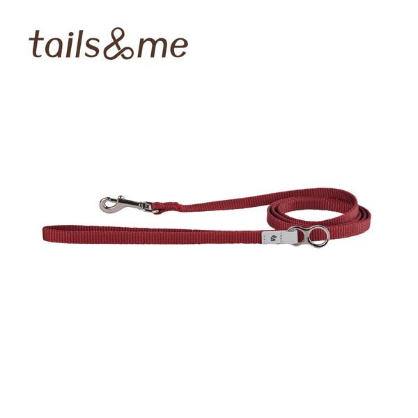 【tails & me 尾巴與我】經典尼龍帶貓用牽繩 (酒紅/薄荷檸黃)