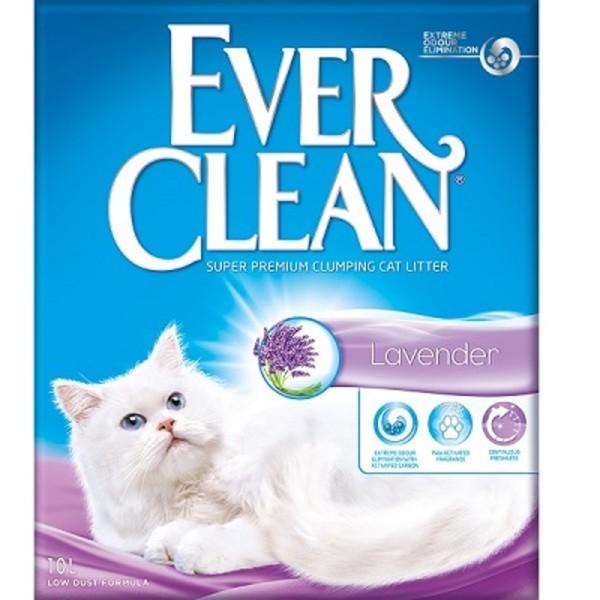 (礦)EVER CLEAN藍鑽歐規薰衣草結塊貓砂10L