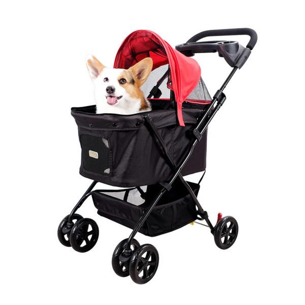 【IBIYAYA】小資國民寵物推車-胭脂紅