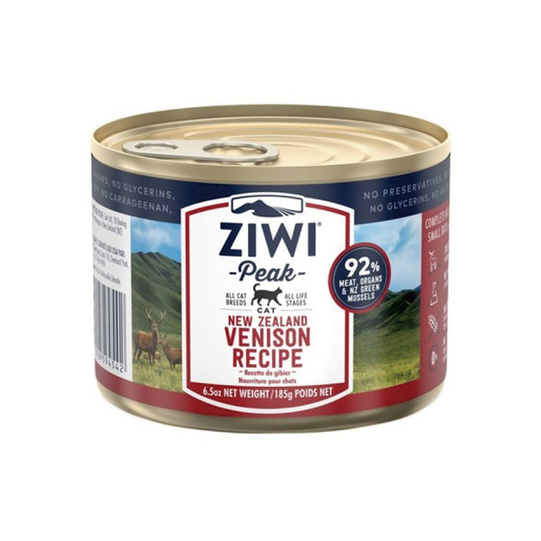 【ZiwiPeak 巔峰】92%鮮肉貓主食罐185g-共7種口味