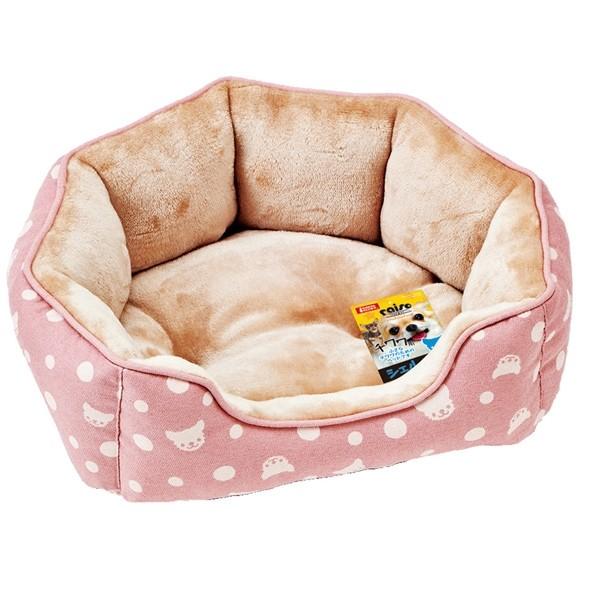 【MARUKAN】法蘭絨貝殼型睡床-粉