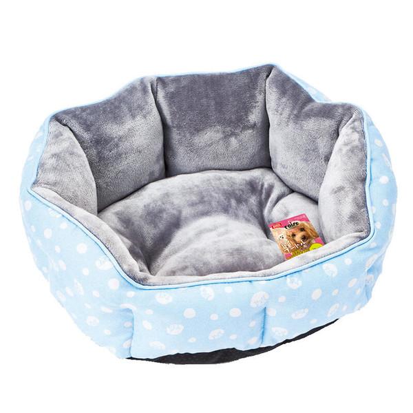 1129115500MK法蘭絨橢圓型睡床-藍567127