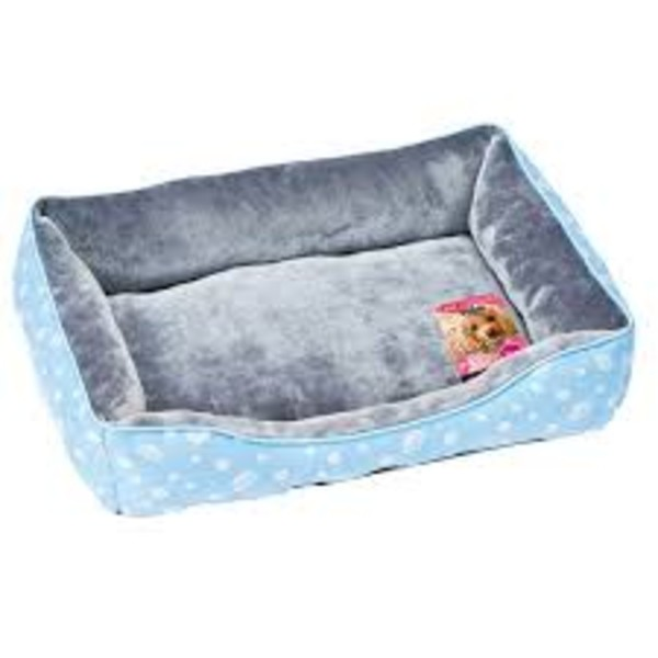 【MARUKAN】法蘭絨方型睡床-藍