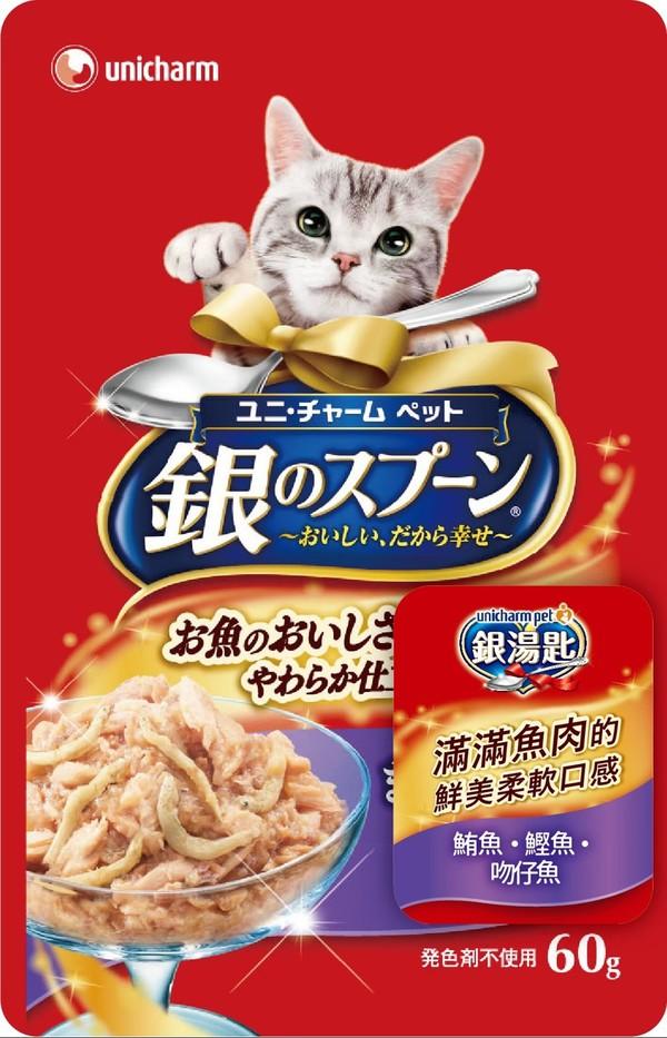 4520699641743 unicharm pet銀湯匙餐包 (鮪魚+鰹魚+吻仔魚)