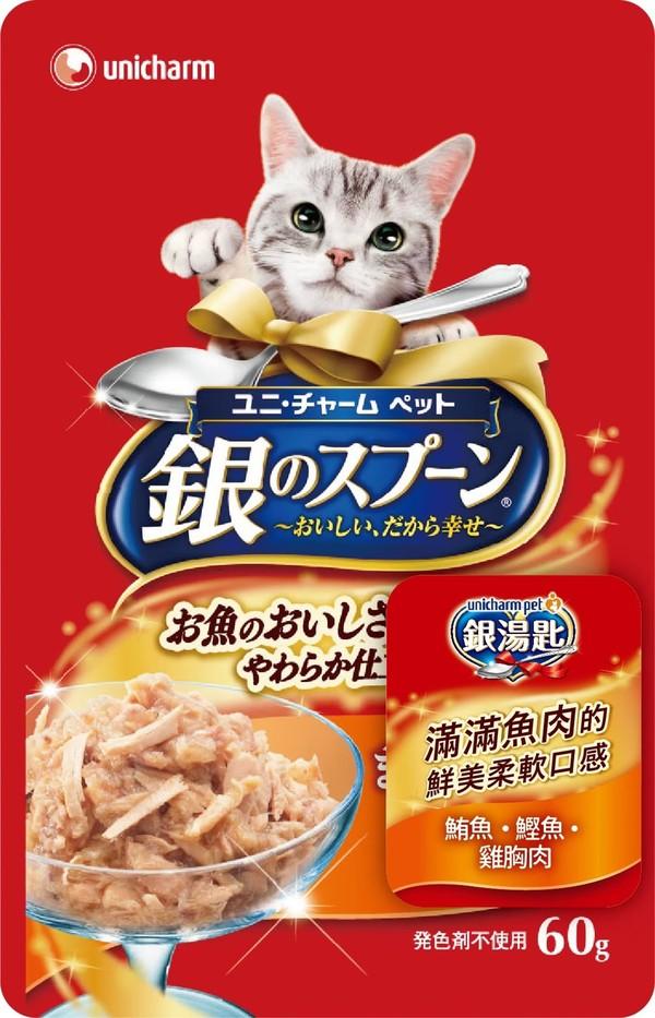 4520699641804 unicharm pet銀湯匙餐包 (鮪魚+鰹魚+雞胸肉)