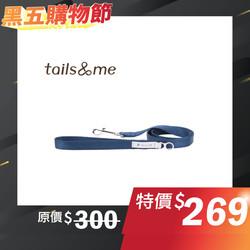 【tails & me 尾巴與我】經典尼龍帶基本款牽繩-深藍 S