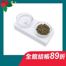 【美國赫根-HAGEN】藝術餐盤雙碗套組-白色