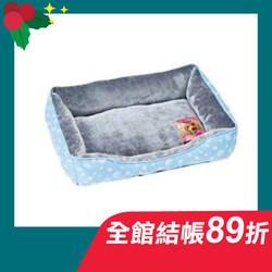 【MARUKAN】法蘭絨方型睡床-藍567134