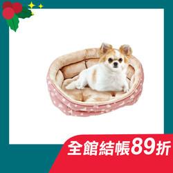 【MARUKAN】法蘭絨橢圓型睡床-粉567103