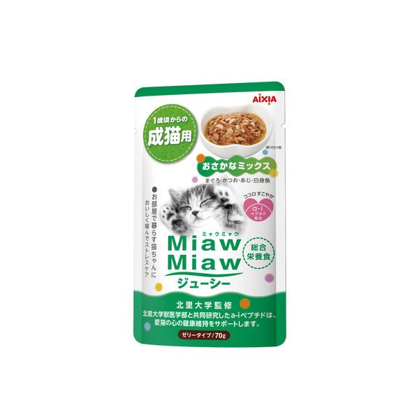 【Aixia】愛喜雅 妙喵主食軟包24號精選魚類