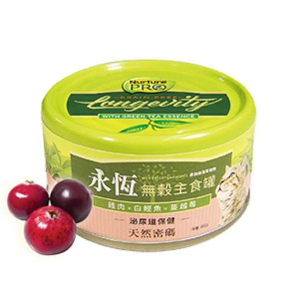 【Nurture PRO 天然密碼】永恆無穀貓咪主食罐80g-蔓越莓