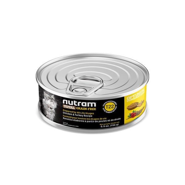 【紐頓nutram】T22無穀貓火雞主食湯罐156G