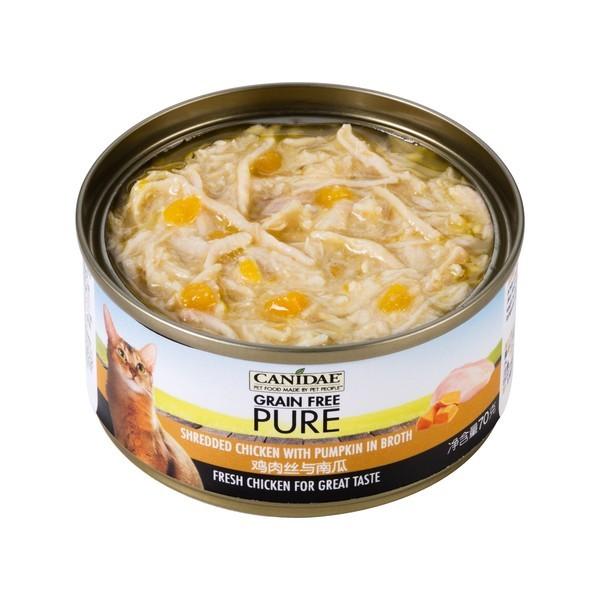 【Canidae 卡比】無穀貓用主食罐-雞肉絲.南瓜湯罐70g