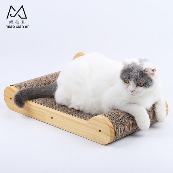(E)喵仙兒-貓耳款床型貓抓板49*26*8cm2302080205756