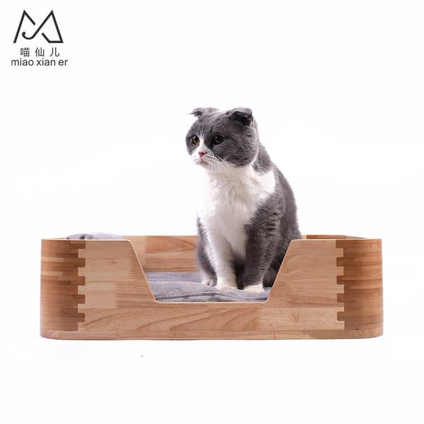 【喵仙兒】木製圓角寵物用床49*36*13.5cm2302400223965