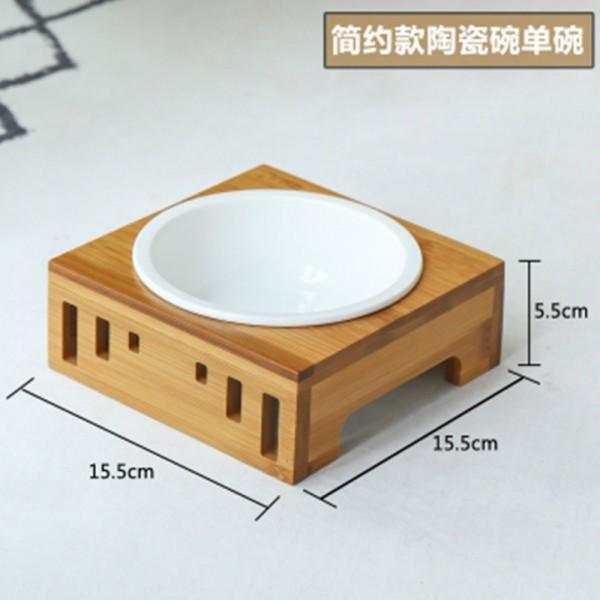 【喵仙兒】竹木簡約陶瓷碗(單碗組) 15.5*5.5cm2302100306555