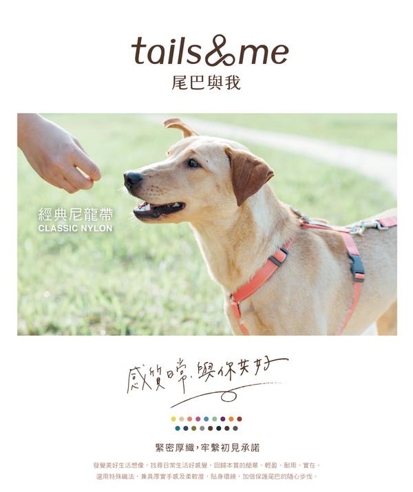 【tails & me 尾巴與我】經典尼龍帶基本款胸背帶-深藍 (S/M/L)