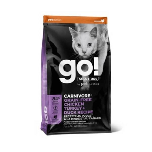 【Go】頂級抗敏天然貓糧- 80%四種肉無穀全貓配方8lb/16lb