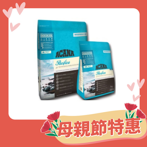 【ACANA 愛肯拿】海洋盛宴無穀貓糧-多種魚+玫瑰果(340G/1.8KG/4.5KG)