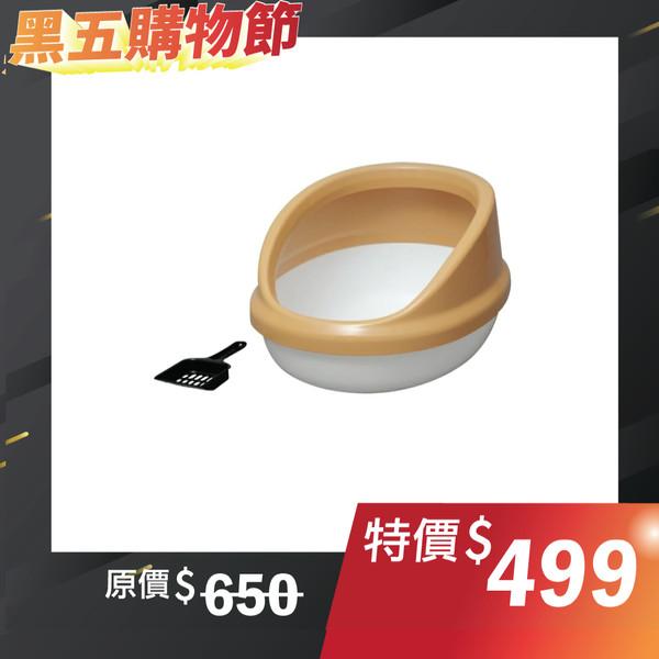 【日本IRIS】IR-PNE-500H簡易加高貓便盆-(白/黑/三花)