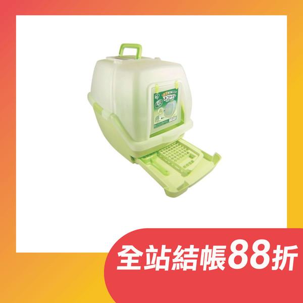 【日本IRIS】一週間大玉貓便盆-(橙/綠)