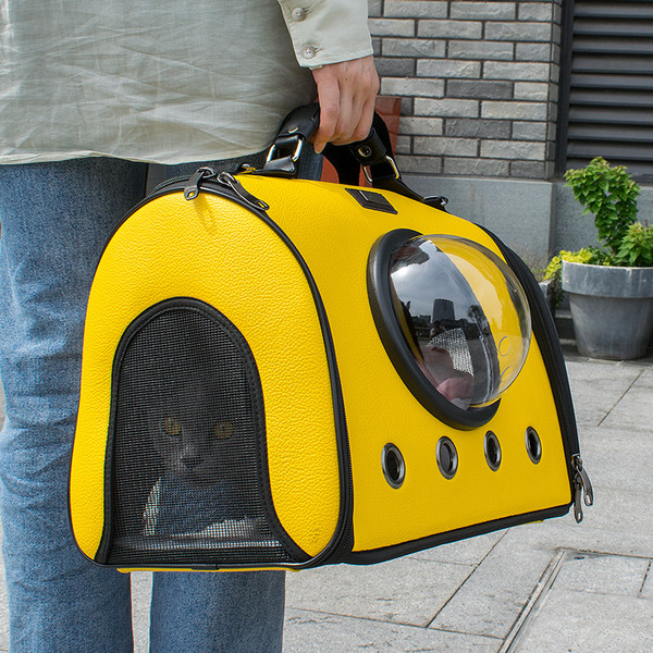 【菲尼斯】都會泡泡包-圓筒包(黃色/棕色)