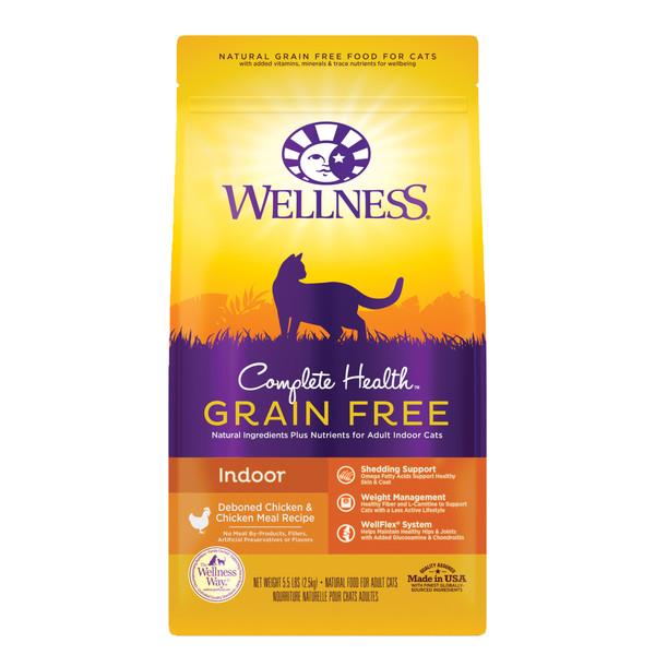 Wellness(貓)全方位無穀-室內貓無穀去骨雞肉5.5Lb